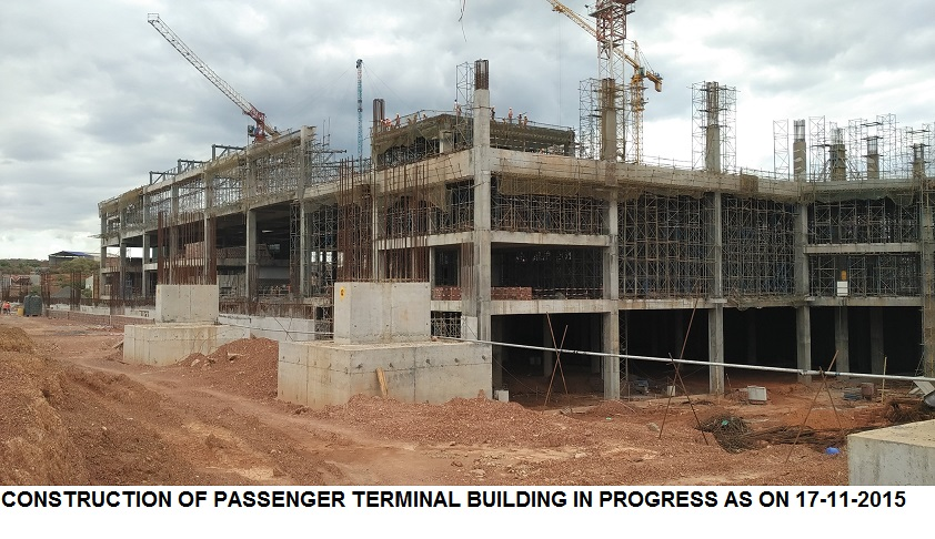 Construction of Passenger Terminal Building as on 17-11-2015