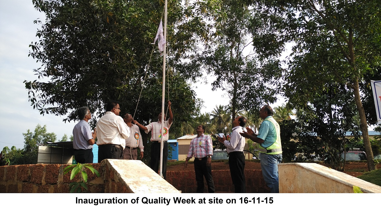 Inaugration of Quality week at site on 16-11-2015