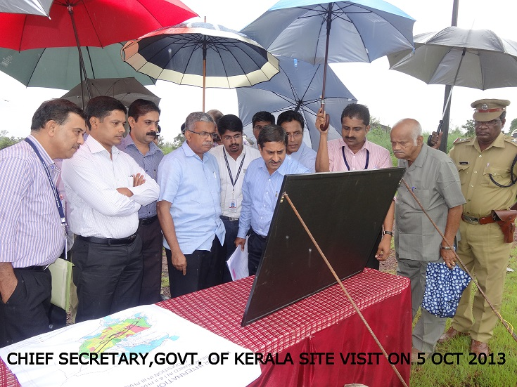 Chief Secretary's visit to Airport site